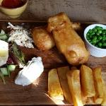 Giant Fish Finder and Hand Made Chips