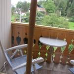 Small outdoor patio - ours overlooked a miniature horse and goat of the neighbor's