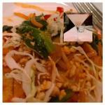 Burmese Pad Thai with Lychee martini