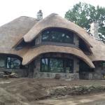 Mushroom home under construction