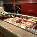 hot bar, grilled chicken lasagna etc
