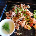 Baby calamari with mint and lime sauce