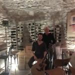 Andy and Chris in the wine cave
