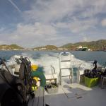 Heading out of port to dive sites