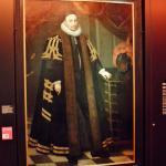 Een van de portretten , in de galerij .