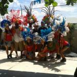 Miami Heat dancers on tour @ Junkanoo World Museum & Arts Centre