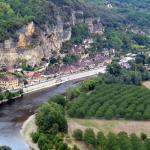 Vue sur la Dordogne depuis les jardins de Marqueyssac