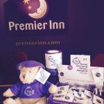 Bernard Bear from Great Ormond Street loves Premier Inn Grimsby