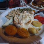 Chicken and prawns