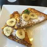 Cap'n Crunch, Macadamia Nut, Peanut Butter, Banana French Toast