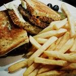 Patty Melt with Fries before play time in the arcade.