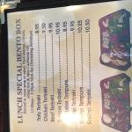 some of the lunch menu options