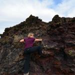 There are lots of volcanic bombs and formations available for the kids...of all ages!