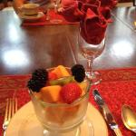 The fruit course before the fabulous French Toast arrived.