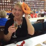 Wendy enjoying Norfolk Island hospitality at the RSL