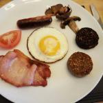 Current breakfast menu.  I had half-portions of the full Irish breakfast,  mini-Irish, beans on