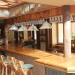 This is the bar of the hotel with a Saharian design