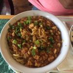 Тан Тан нудлс с курицей, большое глубокое блюдо