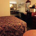 Pictures on the Super 8 website are misleading.  So here is the upgraded King Room with jet tub.