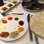 Lovely curry also the best selection of chutneys I've ever had with my popadoms