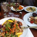 Salat und Steak
