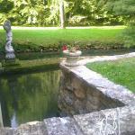 Le Moulin de Fresquet - l'Alzou vue de notre terrasse.