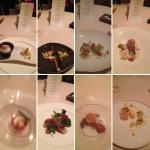 All 8 meals on the tasting menu