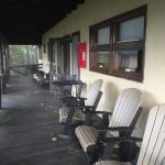 Front porch of Diamondback Lodge