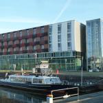 Sicht vom Hafen aus auf das Comfort-Hotel