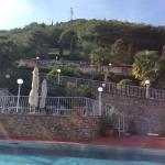 Vom Pool nach oben
