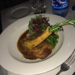 The lamb shank is slowly cooked and comes with a divine sauce