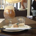Cafe with ice in hot summer day