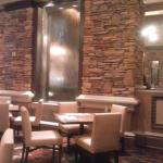 Room with water wall in buffet