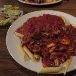 meat sauce & mushroom sauce