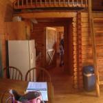 Right inside front door looking into cabin.