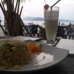 Fried rice and PinaColada