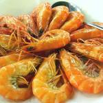 boiled prawns