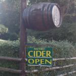 Cider shop to the rear of the Forest Tea House