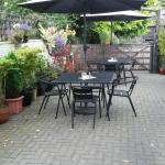 Lovley outside seating area, ideal for sunny days.