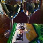 Chardonnay and shamrock crisps at The Parador Pub