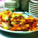 Becky's Club Sandwich & handcut fries