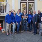 Unser Team vor dem Hotel