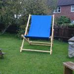 Deck chair at the Chequers inn