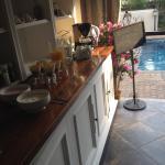 Breakfast buffet on the veranda