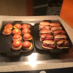mini sliders and hot dogs