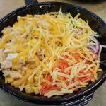 Double chicken and cheese salad