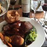 Roast Beef, with a good Malbec to wash it down