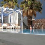 View of the Iliada Hotel pool area