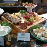 Cheese platter on the breakfast buffet