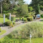 Aussicht auf den wunderschönen Relax-Gartenbereich